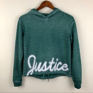 Justice Active Girl's Hoodie Spell-out Sweatshirt